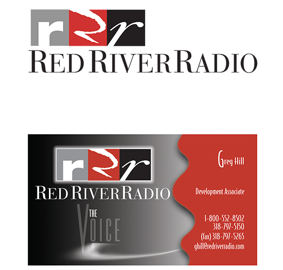 Viser williams create red river radio la public boardcasting logo business card reheart Image collections